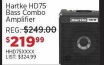 Sam Ash Black Friday: Hartke HD75 Bass Combo Amplifier for $219.99