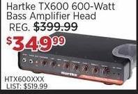 Sam Ash Black Friday: Hartke TX600 600-Watt Bass Amplifier Head for $349.99