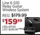 Sam Ash Black Friday: Line 6 G10 Relay Guitar Wireless System for $159.99