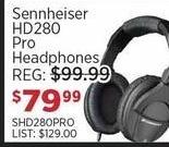 Sam Ash Black Friday: Sennheiser HD280 Pro Headphones for $79.99