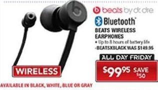 PC Richard & Son Black Friday: Beats Wireless Bluetooth Earphones for $99.95