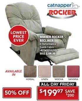 PC Richard & Son Black Friday: Catnapper Rocker Recliner for $199.97