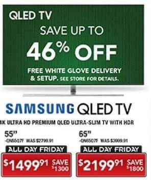 "PC Richard & Son Black Friday: 65"" Samsung 4K Ultra HD QLED TV with HDR for $2,199.91"