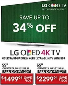 """PC Richard & Son Black Friday: 65"""" LG OLED 4K Ultra HD TV with HDR for $2,299.91"""
