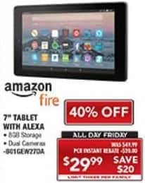"""PC Richard & Son Black Friday: 8GB Amazon Fire 7"""" Tablet with Alexa for $29.99"""