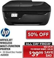 PC Richard & Son Black Friday: HP OfficeJet Wireless Multi-Function Printer for $39.99