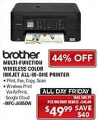 PC Richard & Son Black Friday: Brother Multi-Function Wireless Color Inkjet All-In-One Printer for $49.99
