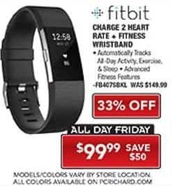 PC Richard & Son Black Friday: Fitbit Charge 2 for $99.99