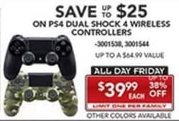 PC Richard & Son Black Friday: PS4 DualShock 4 Wireless Controllers, Select Styles for $39.99
