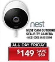 PC Richard & Son Black Friday: Nest Cam Outdoor Security Camera for $149.00