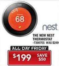 PC Richard & Son Black Friday: Nest Thermostat for $199.00