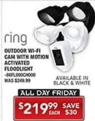 PC Richard & Son Black Friday: Ring Outdoor WiFi Cam with Motion Activated Floodlight for $219.99