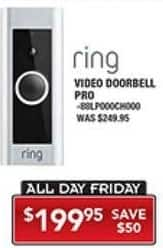 PC Richard & Son Black Friday: Ring Video Doorbell Pro for $199.95