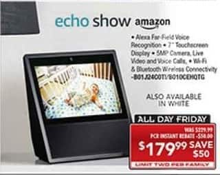 PC Richard & Son Black Friday: Amazon Echo Show for $179.99