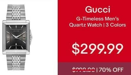 eBay Cyber Monday: Gucci G-Timeless Men's Quartz Watch MKSU for $299.99
