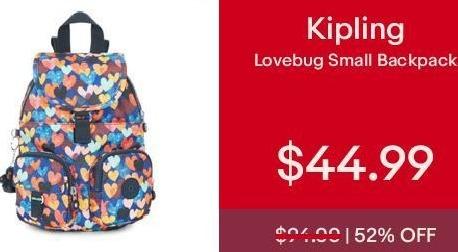 eBay Cyber Monday: Kipling Lovebug Small Backpack for $44.99