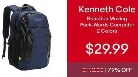 eBay Cyber Monday: Kenneth Cole Reaction Moving Pack-Wards Computer for $29.99
