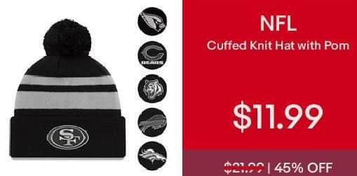 eBay Cyber Monday: NFL Cuffed Knit Hat with Pom for $11.99