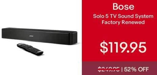 eBay Cyber Monday: Bose Solo 5 TV sound system - Factory-Renewed for $119.95
