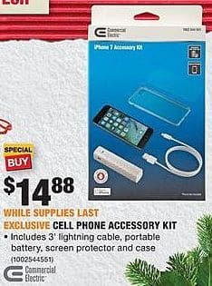Home Depot Black Friday: Commercial Electric Cell Phone Accessory Kit for $14.88