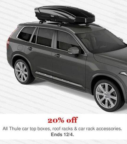 REI Cyber Monday: All Thule Car Top Boxes, Roof Racks and Car Rack Accessories - 20% Off