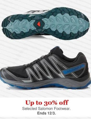 REI Cyber Monday: Salomon Footwear, Select Styles - up to 30% Off