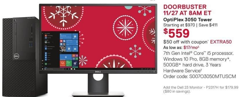 """Dell Small Business Cyber Monday: 23"""" Dell P2317H Monitor for $179.00"""