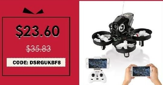 Rosegal Cyber Monday: FuriBee H801 2.4GHz 4CH 6 Axis Gyro WiFi FPV Remote Control Quadcopter for $23.60