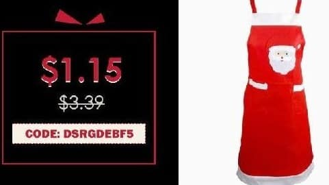 Rosegal Cyber Monday: Yeduo Santa Claus Apron Christmas Ornament for $1.15