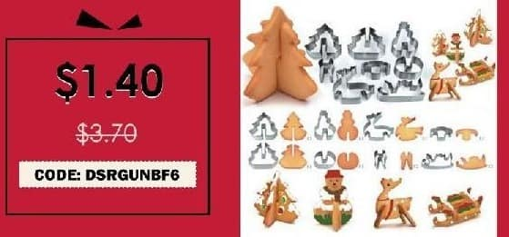 Rosegal Cyber Monday: Hoard 8PCS 3D Christmas Scenario Cookie Cutter Stainless Steel Fondant Cake Mould for $1.40