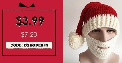 Rosegal Cyber Monday: Christmas Knitted Beard Face Hat for $3.99