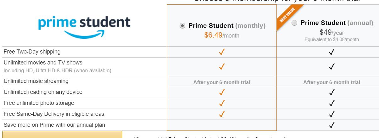75b00c9e2ab2 Amazon Prime Student Trial Clarification - Slickdeals.net