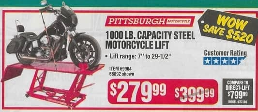 Harbor Freight Motorcycle Lift