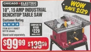 Harbor Freight Black Friday: Chicago Electric 10