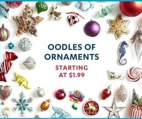 at home black friday christmas ornaments starting at 199
