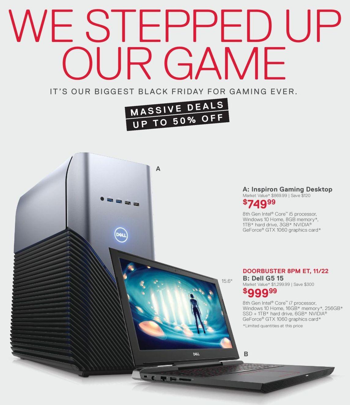 Dell G5 15 Laptop 15 6 8th Gen Intel Core I7 16gb Ram 256gb Ssd