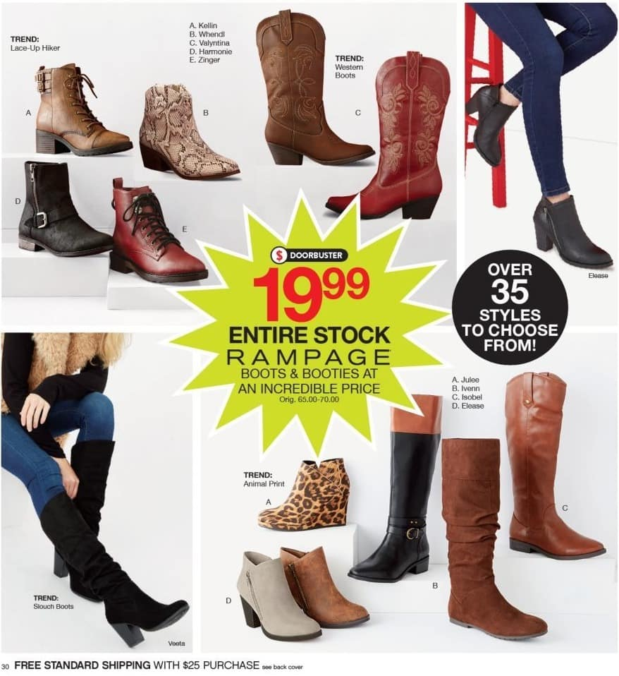 Belk Black Friday Entire Stock Of Rampage Boots And Booties For