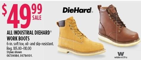 43799e158c24 Sears Black Friday  Diehard Industrial Work Boots