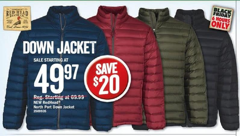 f3738d472 Bass Pro Shops Black Friday: RedHead North Port Down Jacket for ...