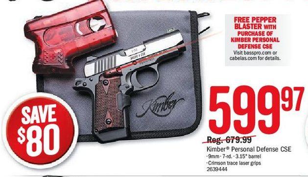 Bass Pro Shops Black Friday: Kimber Personal Defense CSE 9mm