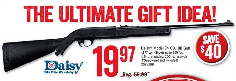 Bass Pro Shops Black Friday: Daisy Model 74 CO² BB Gun for $19 97