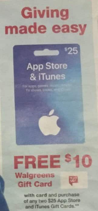 Walgreens Black Friday: AppStore and iTunes Gift Card + $10