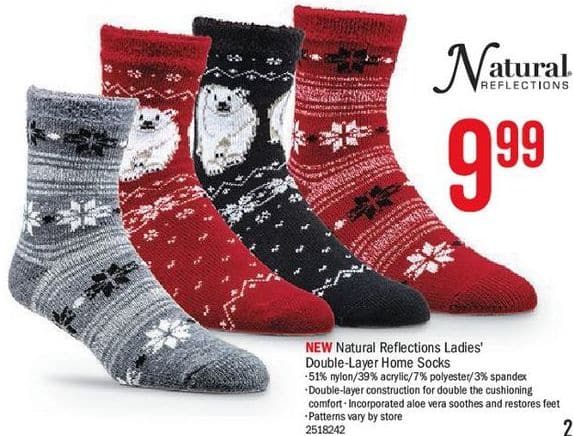 0eef9f2dd9126 Bass Pro Shops Black Friday: Natural Reflections Women's Double-Layer Home  Socks for $9.99