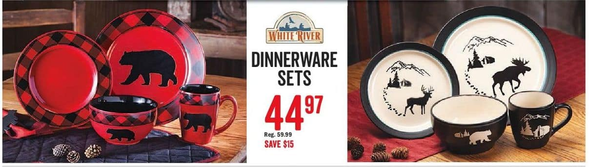 exceptional Dinnerware Sets Black Friday Part - 12: Bass Pro Shops Black Friday: Dinnerware Sets for $44.97