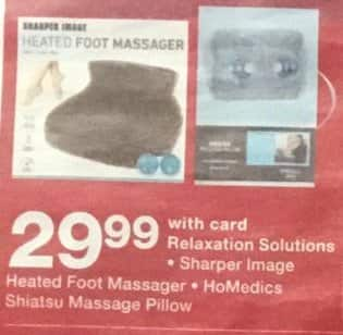 Walgreens Black Friday Sharper Image Heated Foot Massager Or