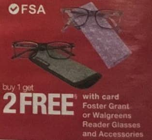 cdbe6525dc Walgreens Black Friday  Foster Grant or Walgreens Reader Glasses and  Accessories - B1G2 Free