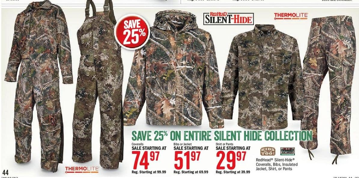 45e96f2b Bass Pro Shops Black Friday: Entire Silent Hide Collection - Save 25 ...