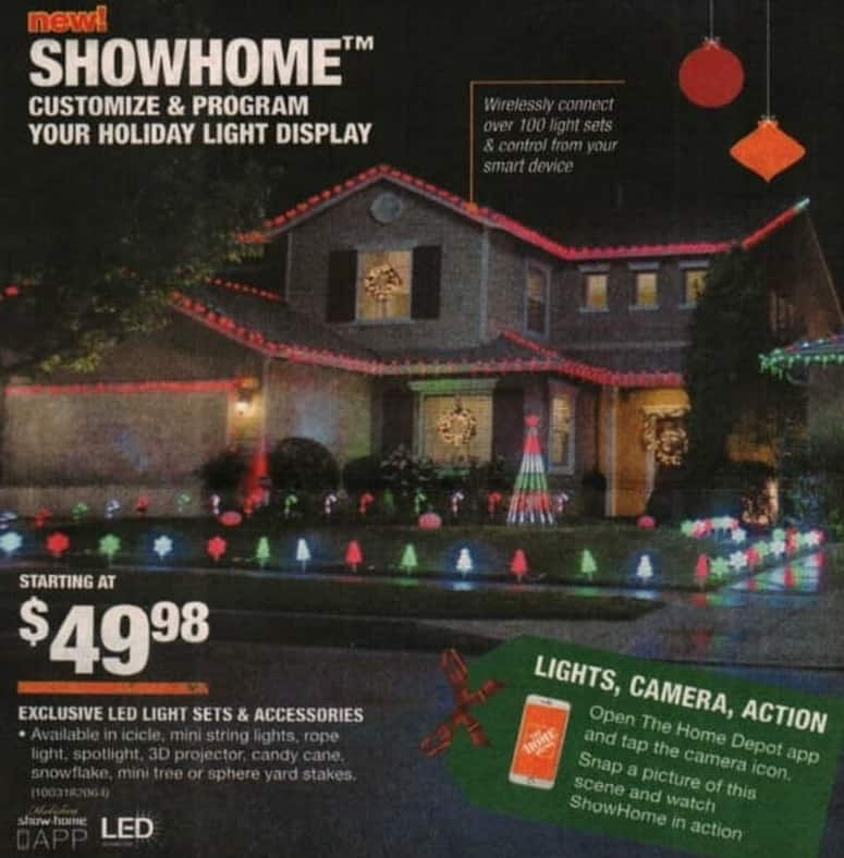 Home Depot Black Friday Showhome Led Light Sets Or Accessories
