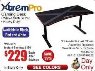 separation shoes 44ab3 0df48 Frys Black Friday: XtremPro Gaming Desk for $229.00 ...
