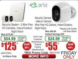 Frys Black Friday: Arlo Add-On Security Camera with Night